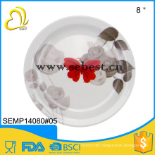 "Eco-Friendly wholesale ink custom print 8"" melamine plates"