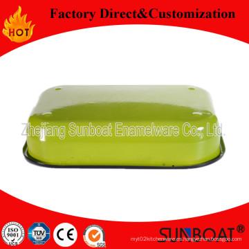 Sunboat Utensilios de Cocina / Aparato de Cocina Rectangular Pie Dish Enamel Dinnerware Plate (Set)