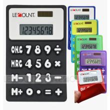 Calculadora dobrável do silicone do poder dobro de 8 dígitos com ímã (LC510A)