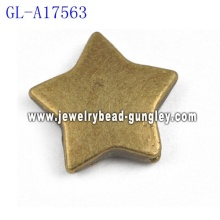 Star shape Alloy beads