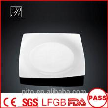 P & T Porzellan Fabrik quadratischen Platten, Teller, leere Teller