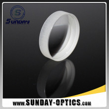 Vidro óptico convexo esférico do comprimento BK7 do diâmetro 50mm das lentes 18mm