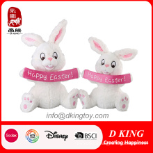 Easter Gift Plush Rabbit Toy with Banner