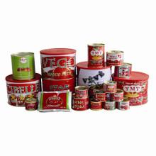 Molho de tomate enlatado orgânico com cor vermelha, processamento concentrado dobro de 28% ~ 30% Brix
