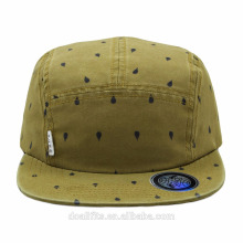 hot sales flat brim 5 panel camp cap