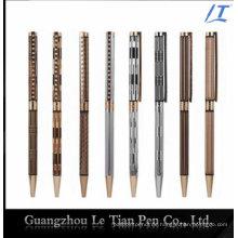 Schlanker Stift mit Kristallkorn-Metallkugelschreiber dünn 2016