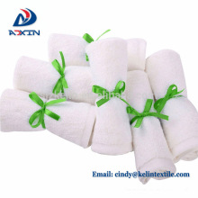 Wholesale 10''x10'' oem organic bamboo washcloth baby towel