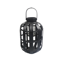 Small black pale storm lantern