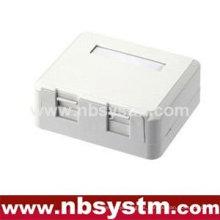 Caja de superficie de 2 puertos con 2 clavijas troncales o sin