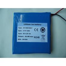 В 3.7 в 12ah глубокого цикла литий-полимерный аккумулятор