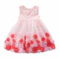2017 neue Ankunft Baby Mädchen Spitze Puffy Kleid Baby Mädchen Geburtstagsparty Kleid Für Sommer Kleid Baby