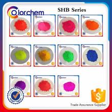Fluoreszierendes Pigment und fluoreszierendes Rot und Gelb
