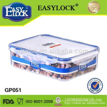 Easylock plastic food cereal storage with lid
