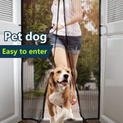 DIY Magnetic curtain hanging screen door