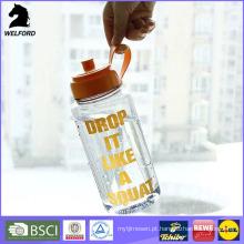 2016 BPA livre garrafa de água esportes plástico com tampa de parafuso e bico de sucção