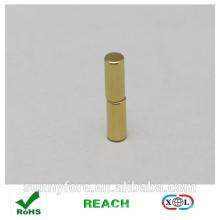 Dia 5x20mm Gold Beschichtung runder magnet