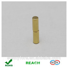 Dia 5x20mm couche aimant rond d'or