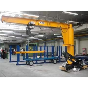 Guindaste de patíbulo de giro do modilhão da plataforma de carga do porto da oficina