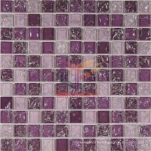 Pueple Mix Super White Grossy Ice-Cracked Mosaic (CC166)