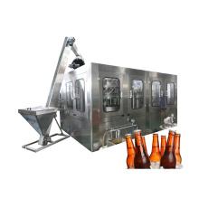 Lavado, llenado, tapado, línea de envasado de cerveza