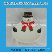 Bol en céramique à l'arrivée de 2016 avec modèle de bonhomme de neige