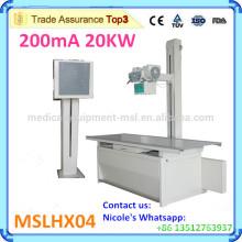 MSLHX04-I La radiografía más barata del hospital 200ma La máquina de rayos X usada para comprobar las extremidades, el pecho, la cabeza y el cuerpo