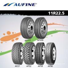 Pneus de caminhão Aufine, caminhão Radial resistente pneus 11R 22.5 295/80R 22.5