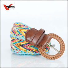 2014 New Popular Stylish Colorful Ladies Braided Pu Wide Belt