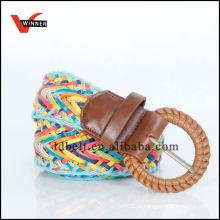 2014 New Popular Stylish Colorful Ladies Braided Pu Wide Belt