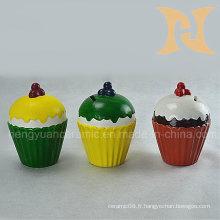 Cadeau pour filles de la banque de monnaie en forme de cupcake pour la décoration intérieure