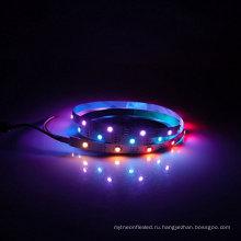 Свет водить прокладки 5050 Сид RGB WS2812B 1М 3.2 ft 30/светодиодов/м IP67 Водонепроницаемый гибкий полный Цвет пикселя Белый PCB 5V Цвет мечты