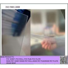 Feuille en plastique rigide claire de PVC de relief de 0.4mm / glacée pour la boîte se pliante