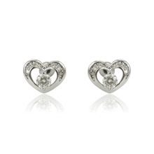 E-600 Xuping 2018 Hot selling Jewelry  Fashion Synthetic CZ  heart shaped studs earrings