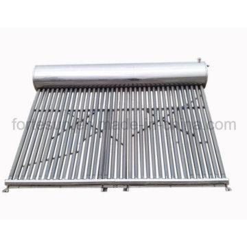 Système de chauffage solaire de l'eau de tube à vide de basse pression d'acier inoxydable