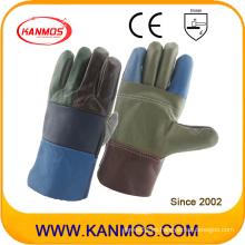 Guantes de trabajo de cuero industrial de cuero de vaca de seguridad de cuero (31010)