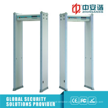 Alta Sensible 6/18 Detección Zonas Puerta Marco Metal Detector