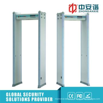Haute sensibilité 6/18 zones de détection Détecteur de métal de porte