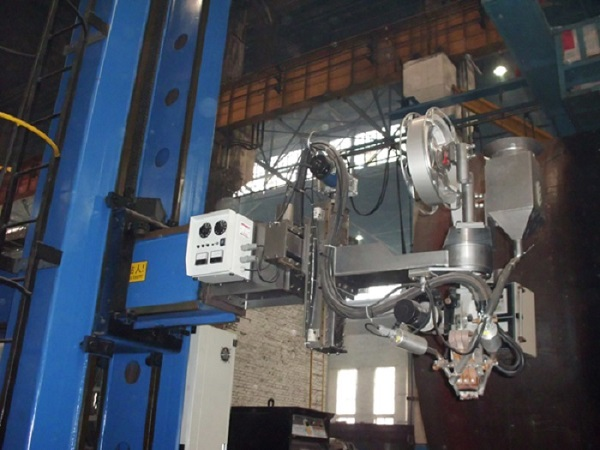 Double Column Strip Welding Column And Boom