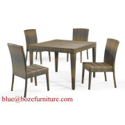 China Outdoor Furniture Rattan Wicker Dining Set (BZ-D002)