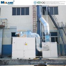 Sistema de exaustão de fumaça de soldagem centralizado