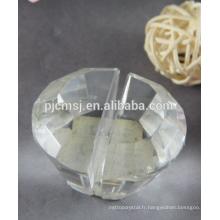 Mini forme de diamant 2015 porte-cartes en cristal pour les cadeaux d'affaires