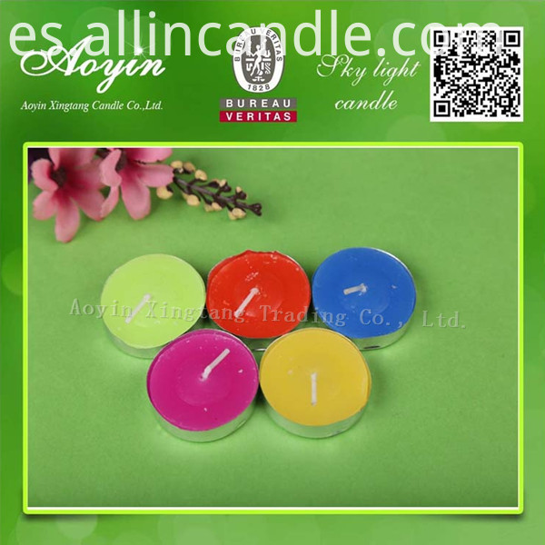 COLOR TEALIGHT CANDLE22