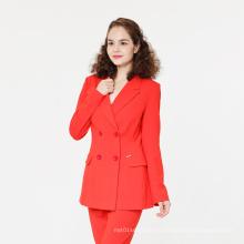 Модный двубортный женский офисный пиджак