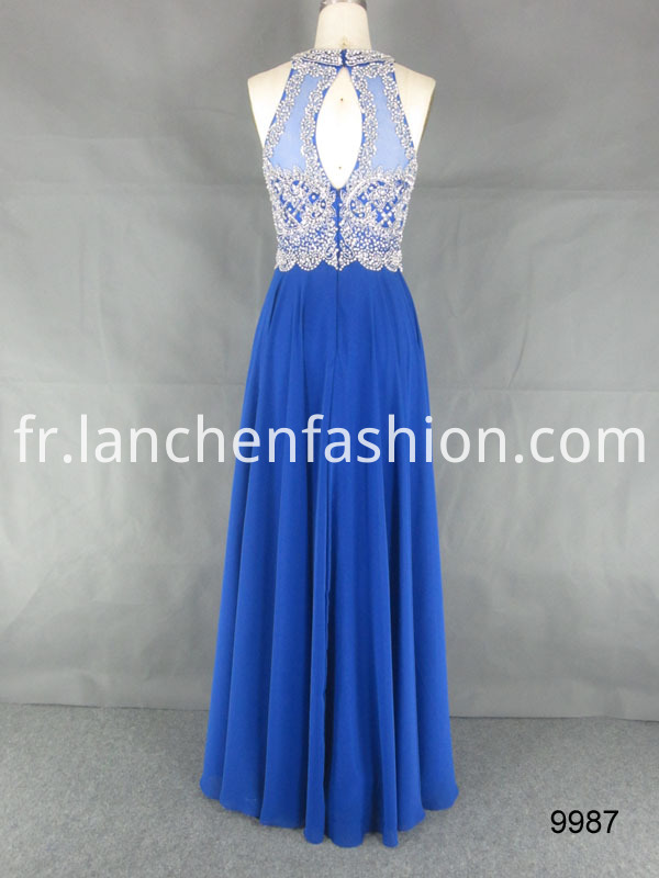 Evening Cocktail Dress Blue