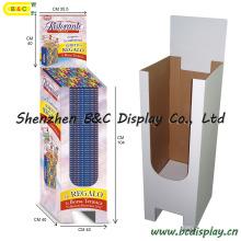 Papier-Pappwühlkorb-Anzeige, Wühlkorb-Präsentationsständer, Papieranzeigen-Schaukasten, Wühlkorb (B & C-A059)