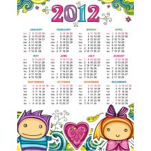 Calendrier mensuel de haute qualité de mur pour la promotion