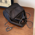 2021 cotton metal chain with PU backpack bag