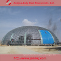 Steel Space Frame Roof Structure Design for Dome Shelter