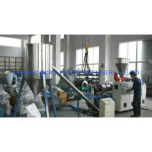 Double Screw Hot Cutting Plastic Pelletizer  Machine 60KW F