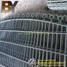 PVC recubierto doble bucle de malla de alambre de valla